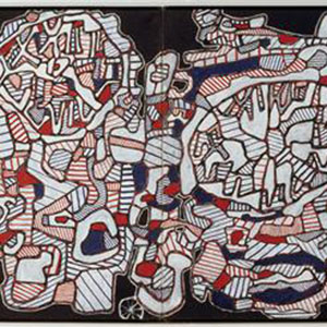 J. Dubuffet, Le train de pendules, 1965, Paris