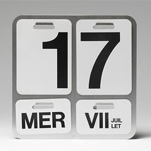 M. Enzo, Calendrier Formosa, Design, 1963, Paris