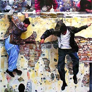 M. Morley, Wall jumpers, 2002, Strasbourg
